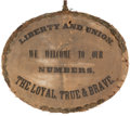 Political:3D & Other Display (pre-1896), [Abraham Lincoln]: Banner Possibly Carried In A Torch-Light Parade.. ...