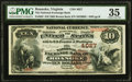 Roanoke, VA - $10 1882 Brown Back Fr. 483 The National Exchange Bank Ch. # 4027 PMG Choice Very Fine 35