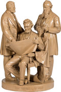 """Antiques:Decorative Americana, Abraham Lincoln: """"Council of War"""" John Rogers Group. . ..."""