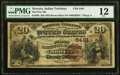 Nowata, IT - $20 1882 Brown Back Fr. 504 The First National Bank Ch. # (W)5401 PMG Fine 12