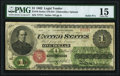 Solid 7 Serial Number Fr. 16 $1 1862 Legal Tender PMG Choice Fine 15