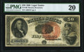 Large Size:Legal Tender Notes, Fr. 160 $50 1880 Legal Tender PMG Very Fine 20.. ...