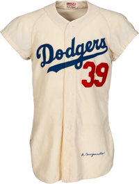 1954 Roy Campanella Game Worn Brooklyn Dodgers Jersey, MEARS A10