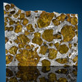 Explorers:Space Exploration, Fukang Meteorite Slice. Pallasite, PMG Fukang, Xinjiang Uygur Province, China - (44° 26'N, 87° 38'E). Found: 2000. ...