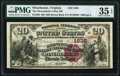 Winchester, VA - $20 1882 Brown Back Fr. 496 The Shenandoah Valley National Bank Ch. # 1635 PMG Choice