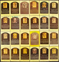 Autographs:Post Cards, Signed Hall of Fame Plaque Postcard Lot of 52. ...