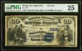 National Bank Notes:Maryland, Rising Sun, MD - $20 1882 Value Back Fr. 581 The National Bank of Rising Sun Ch. # (E)2481 PMG Very Fine 25.. ...