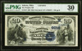 National Bank Notes:Ohio, Adena, OH - $20 1882 Date Back Fr. 555 The Peoples National Bank Ch. # (M)6016 PMG Very Fine 30.. ...