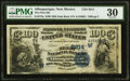 Albuquerque, NM - $100 1882 Date Back Fr. 572a The First National Bank Ch. # (W)2614 PMG Very Fine 30.<