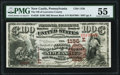 New Castle, PA - $100 1882 Brown Back Fr. 526 The National Bank of Lawrence County Ch. # (E)1156 PMG Ab