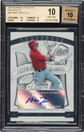 Baseball Cards:Singles (1970-Now), 2009 Bowman Sterling Prospects Mike Trout Autograph BGS Pristine 10, Autograph 10. ...