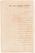 Autographs:Military Figures, Confederate General Richard Ewell Autograph Letter Signed (ALS) Signed Three Times!. ...