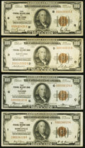 Fr. 1890-B; D; G; I $100 1929 Federal Reserve Bank Notes. Very Fine. ... (Total: 4 notes)