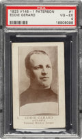 Hockey Cards:Singles (Pre-1960), 1923 V145-1 William Paterson Eddie Gerard #1 PSA VG-EX 4....