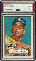Baseball Cards:Singles (1950-1959), 1952 Topps Mickey Mantle #311 PSA VG+ 3.5....