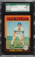 Baseball Cards:Singles (1970-Now), 1975 Topps Robin Yount #223 SGC 92 NM/MT+ 8.5....