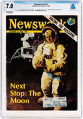 Explorers:Space Exploration, Magazines: Newsweek Dated October 14, 1968, Directly From The Armstrong Family Collection™, CAG Certified and Grad...