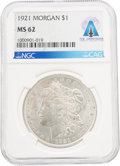 Explorers:Space Exploration, Coins: 1921 $1 MS62 NGC Morgan Dollar Directly From The Armstrong Family Collection™, CAG Certified. ...