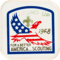 "Explorers:Space Exploration, Boy Scouts: ""Round Up For A Better America...Scouting"" Neckerchief Slide, 1968, Directly From The Armstrong Family Collection™..."