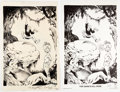 Original Comic Art:Splash Pages, Sam Kieth - Prototype of Julie from The Maxx Pin-Up Illustration Original Art and Signed Limited Edition Print #40... (Total: 2 Items)
