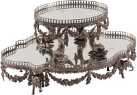 A Neoclassical-Style Silvered Bronze Tiered Plateau 12-1/2 x 26 x 16 inches (31.8 x 66.0 x 40.6 cm)