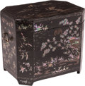Carvings, A Chinese Mother-of-Pearl Inlaid Black Lacquer Box, 19th century. 17 x 14-1/2 x 19-1/2 inches (43.2 x 36.8 x 49.5 c...