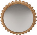 Furniture, A Large Venetian-Style Carved, Painted, and Giltwood Mirror. 72 x 6 inches (182.9 x 15.2 cm). ...