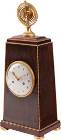 Clocks & Mechanical:Clocks, A French Neoclassical-Style Gilt Bronze Mounted Mahogany Mantle Clock, late 19th century. Marks: Guinets à Paris. 22 x 9...