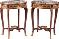 Furniture, A Pair of Louis XV-Style Bronze Mounted Mahogany Side Tables. 31-1/2 x 23-1/2 x 18 inches (80.0 x 59.7 x 45.7 cm) (each). ... (Total: 2 )