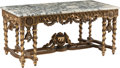 Furniture, A Large Régence-Style Carved and Giltwood Salon Table. 32 x 69 x 34-1/2 inches (81.3 x 175.3 x 87.6 cm). ...
