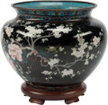 Furniture, A Japanese Meiji Cloisonné Jardinière, 19th century. 16 x 18 inches (40.6 x 45.7 cm) (overall). ...