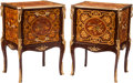 Furniture, A Pair of Diminutive Règence-Style Gilt Bronze Mounted Marquetry Commodes. 32 x 23 x 18 inches (81.3 x 58.4 x 45.7 cm). ... (Total: 2 )