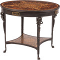 Furniture, A Neoclassical-Style Patinated Bronze Center Table. 28-1/2 x 35 inches (72.4 x 88.9 cm). ...