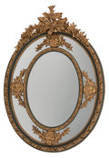 Furniture, A Louis XV-Style Panted and Giltwood Mirror. 72 x 54 x 6 inches (182.9 x 137.2 x 15.2 cm). ...