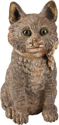 Sculpture, An Austrian Cold Painted Bronze Figure of a Cat, late 19th century. 3 x 7 x 3-1/2 inches (7.6 x 17.8 x 8.9 cm). ...