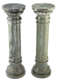 Two Marble Sculpture Columnar Pedestals, 20th century 40-1/4 x 12 inches (102.2 x 30.5 cm) (each)