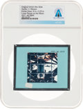 Explorers:Space Exploration, Apollo 11 Original NASA Glass Film Slide, an Image of the Lunar Plaque, Directly From The Armstrong Family Collection™, CA...