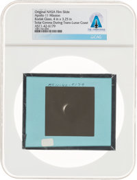 Apollo 11 Original NASA Glass Film Slide, an Image of the Solar Corona During Trans-Lunar Coast, Directly From The Armst...