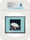 Explorers:Space Exploration, Apollo 11 Original NASA Glass Film Slide, an Image of the Rear of LM with Earth in Distance, Directly From The Armstrong F...