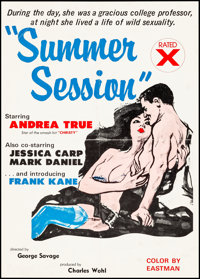 "Summer Session & Other Lot (1975). Folded, Fine+. Poster (20"" X 28"") & One Sheet (27"" X 41"")..."