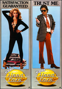 """Used Cars (Columbia, 1980). Rolled, Overall: Very Fine-. Door Panel Set of 4 (18"""" X 52"""") Roger Huyssen Artwork..."""