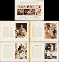 "Four Freedoms by Norman Rockwall (The Saturday Evening Post, 1943). Rolled, Fine/Very Fine. Poster Set of 5 (26"" X..."