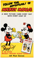 Memorabilia:Disney, Mickey Mouse Recipe Scrapbook Promotional Poster (Walt Disney, c. 1930s)....