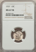 1937 10C MS67 Full Bands NGC. NGC Census: (582/22). PCGS Population: (931/51). CDN: $130 Whsle. Bid for problem-free NGC...