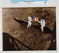 Explorers:Space Exploration, NASA: Apollo 11 - Armstrong & Aldrin Planting Old Glory on the Moon, July 20, 1969 Color Lithograph AP1107, Directly From ...