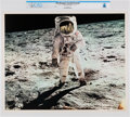 Explorers:Space Exploration, NASA: Apollo 11 - Aldrin Walking on Moon Surface, July 20, 1969 Color Lithograph AP1108, Directly From The Armstrong Famil...