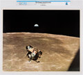 Explorers:Space Exploration, NASA: Apollo 11 - Armstrong & Aldrin Returning from Lunar Surface, July 21, 1969 Color Lithograph AP1110, Directly From Th...