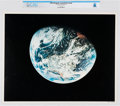 Explorers:Space Exploration, NASA: Apollo - Earth View, July 16-24, 1969 Color Lithograph, Directly From The Armstrong Family Collection™, CAG Certifie...