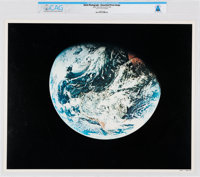 NASA: Apollo - Earth View, July 16-24, 1969 Color Lithograph, Directly From The Armstrong Family Collection™, CAG Certif...