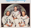 Explorers:Space Exploration, NASA: Apollo 11 Crew, July 1969 Printed Signature Color Lithograph AP1101, Directly From The Armstrong Family Collection™,...